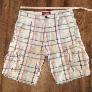 33 Levi's Plaid Cotton Shorts Cargo